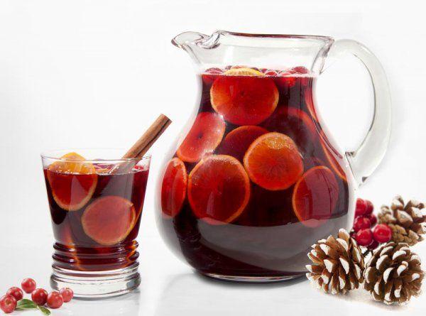 Зимняя сангрия с фруктами