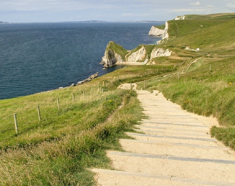Dorset's Coastal Path in Southern England