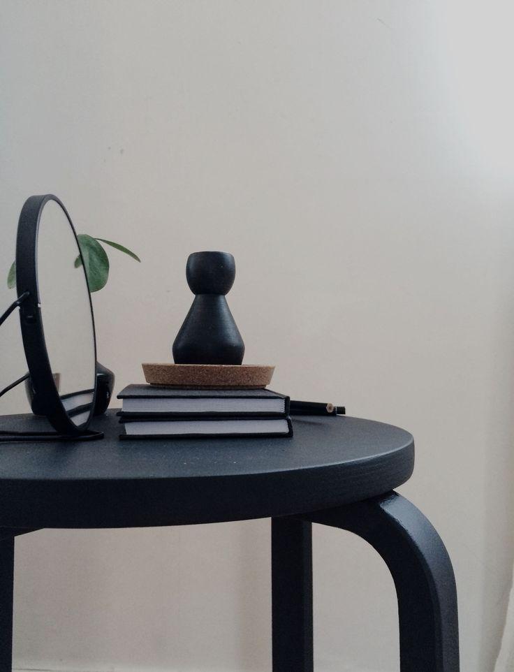 pall diy stilleben svart skrivbord