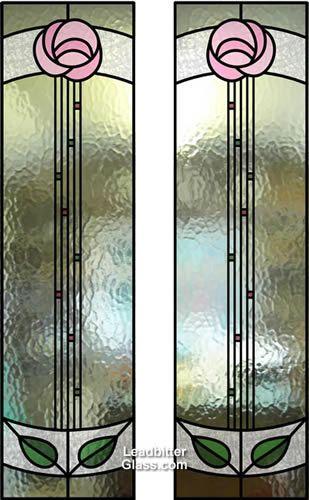 rennie mackintosh stained glass door