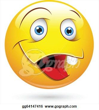 Laughing Smiley Face Clip Art | ... Art of Dumb Smiley Character Face Vector Illustration. Stock Art