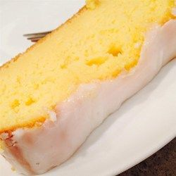 Starbuck's Iced Lemon Pound Cake. CAKE INGREDIENTS -   1 box yellow cake mix,   4.3 ounce instant or cook and serve Lemon pudding mix,   1/2 cup vegetable oil,   4 large eggs,   1/2 cup milk,   8 ounces sour cream,   6 tablespoons freshly squeezed lemon juice,   ICING INGREDIENTS -   2 1/2 cups powdered sugar,   3-4 tablespoons freshly squeezed lemon juice. Combine all ingredients and beat for 1.5 mins. Pour batter into two greased loaf pans, bake at 350 for 45-55 mins. Cool for 15 mins…
