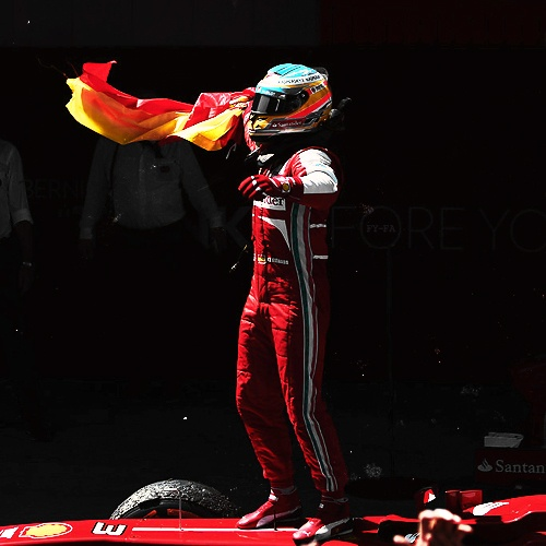 Fernando Alonso F1 Spanish Flag