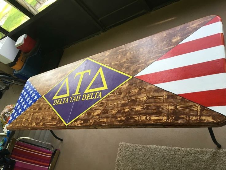delta tau delta fraternity america beer pong table wood grain