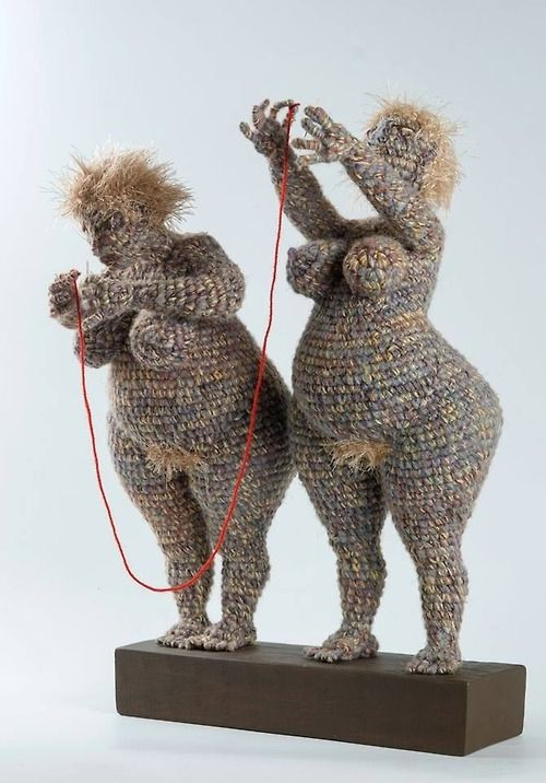Yulia Ustinova, is creating soft sculptures from crochet with a sculptural form inside.