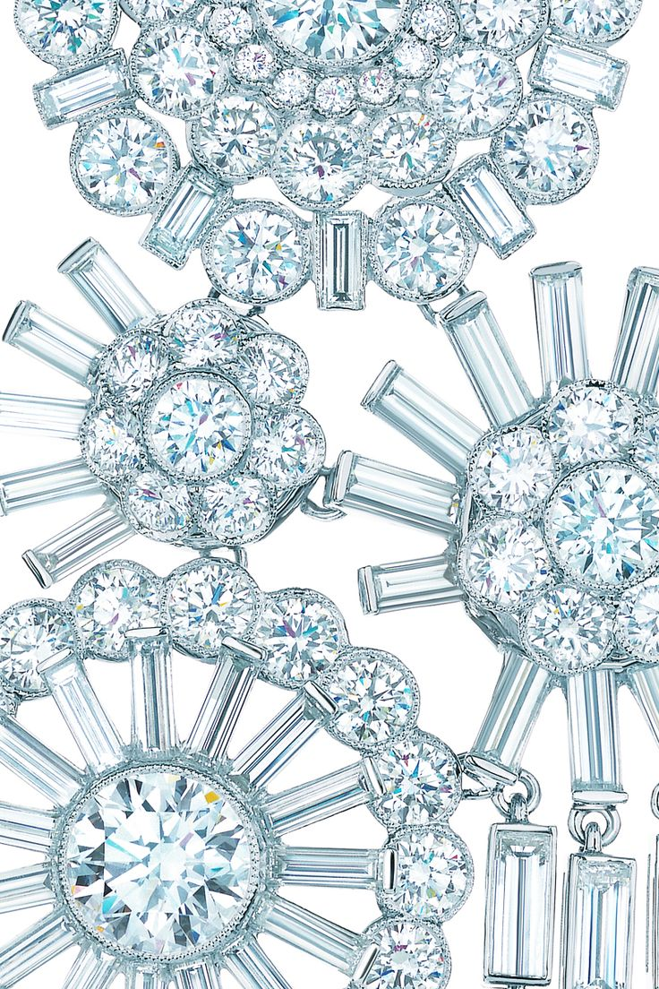 Tiffany & Co. corsage necklace of diamonds in platinum.