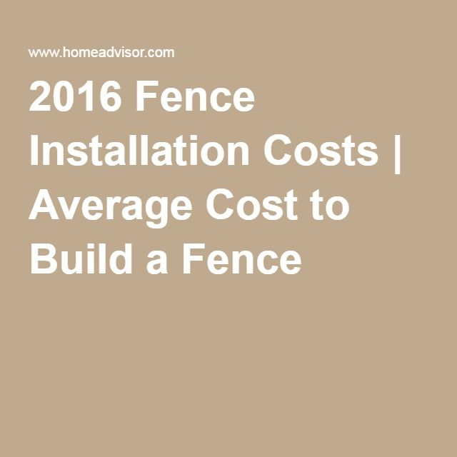 2016 Fence Installation Costs | Average Cost to Build a Fence