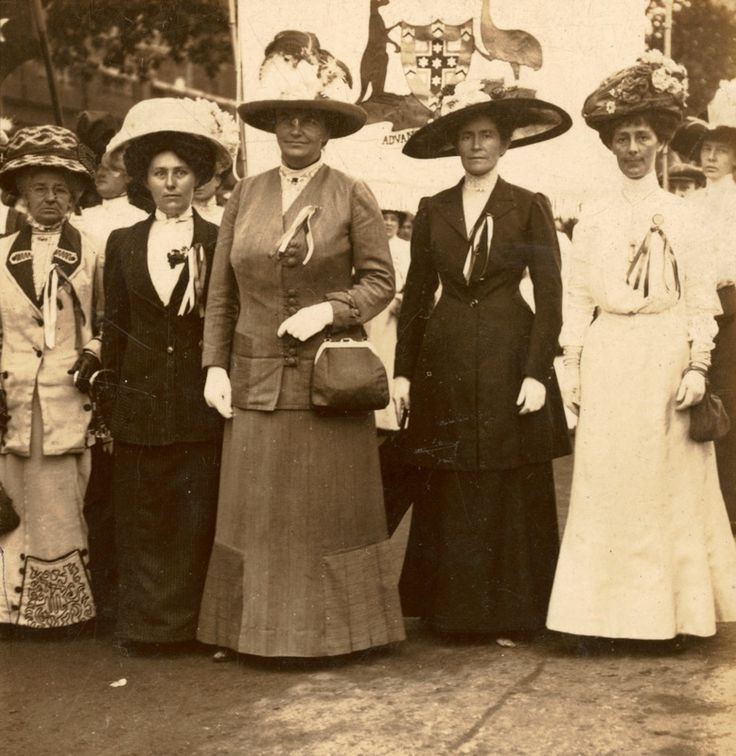 Margaret Fisher participates in the great suffragette demonstration in London, 1911.