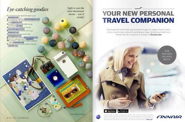 Mivalli Design feat on #BlueWings #Finnair