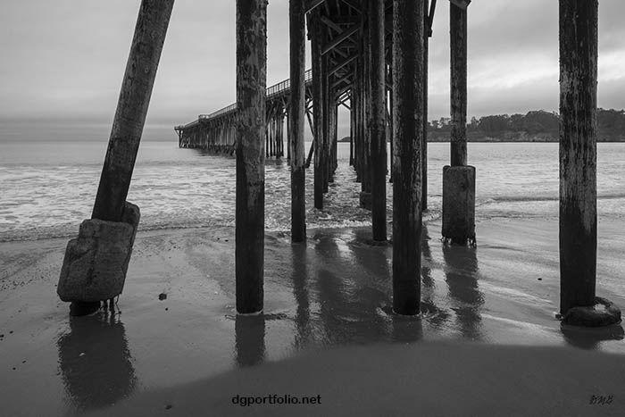 San Simeon Pier I BW