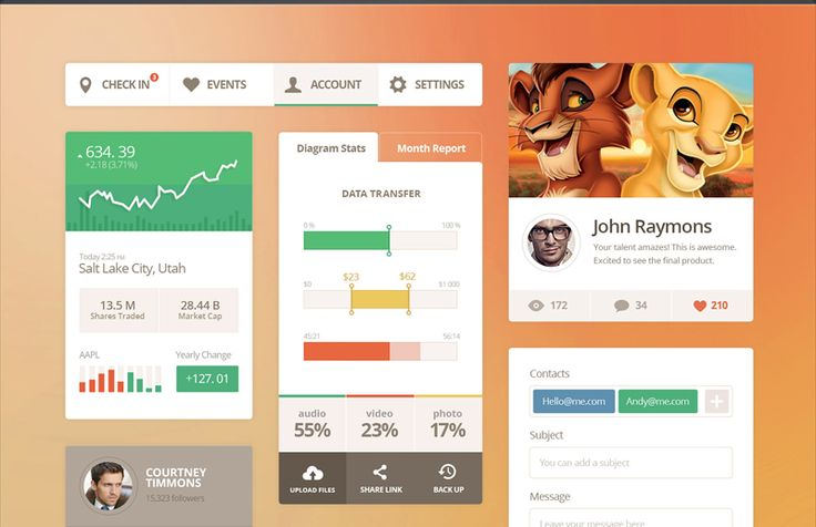 Nice, simple and modern elements - Flat design