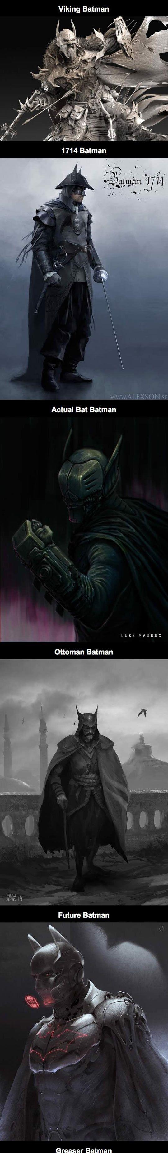 Chicos, no teman mostrar su trabajo y su talento!! Vean estas increíbles ilustraciones!!  Awesome Alternate Fan Art Takes On Batman - Click to see all