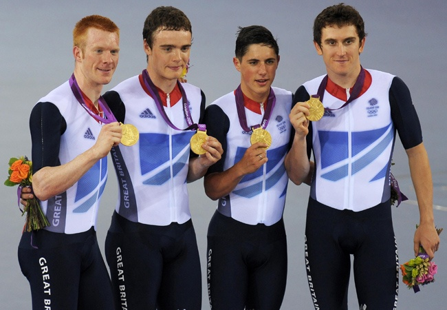 Ed Clancy, Geraint Thomas, Steven Burke and Peter Kennaugh – Gold Medal - Men's Team Pursuit