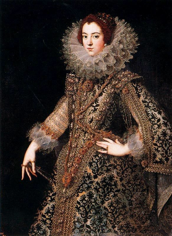 Reine Marie de Médicis.  Queen of France as the second wife of King Henry IV of France, of the House of Bourbon.