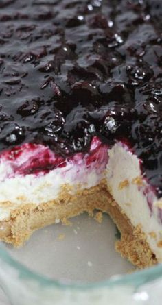 No-Bake Cheesecake Bars with Fresh Blueberry Sauce Recipe