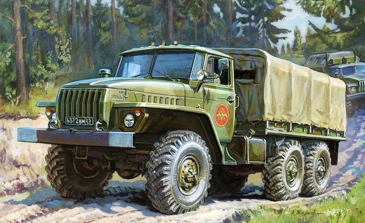 Trucks painting - Ural (USSR)