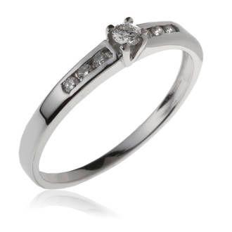 Achat Bague Femme or gris 1.95g, Diamant 0,08 ct, Diamant 0,09 ct - Le Manège à Bijoux