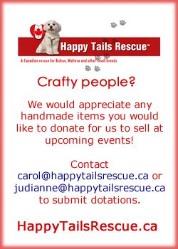 Hand crafted donations are always appreciated for us to sell at events and raise funds.  Contact info. on our site http://www.happytailsrescue.ca/events.html #craft #homemade #handmade #donate