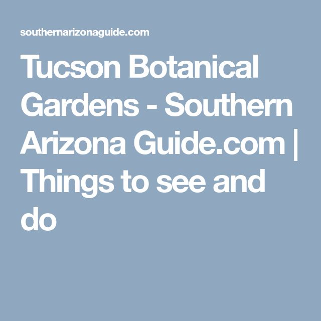 Tucson Botanical Gardens - Southern Arizona Guide.com | Things to see and do