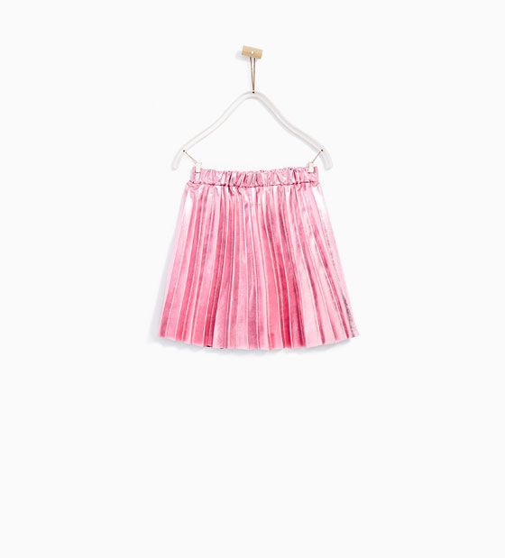 ZARA - KIDS - METALLIC ACCORDION PLEAT SKIRT