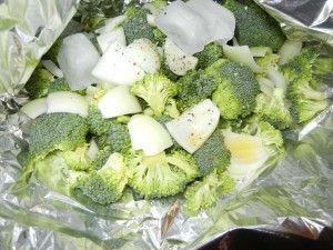Grilled Broccoli - My favorite and so easy!  Here is a little trick too!  http://www.stockpilingmoms.com/2011/08/grilled-broccoli/