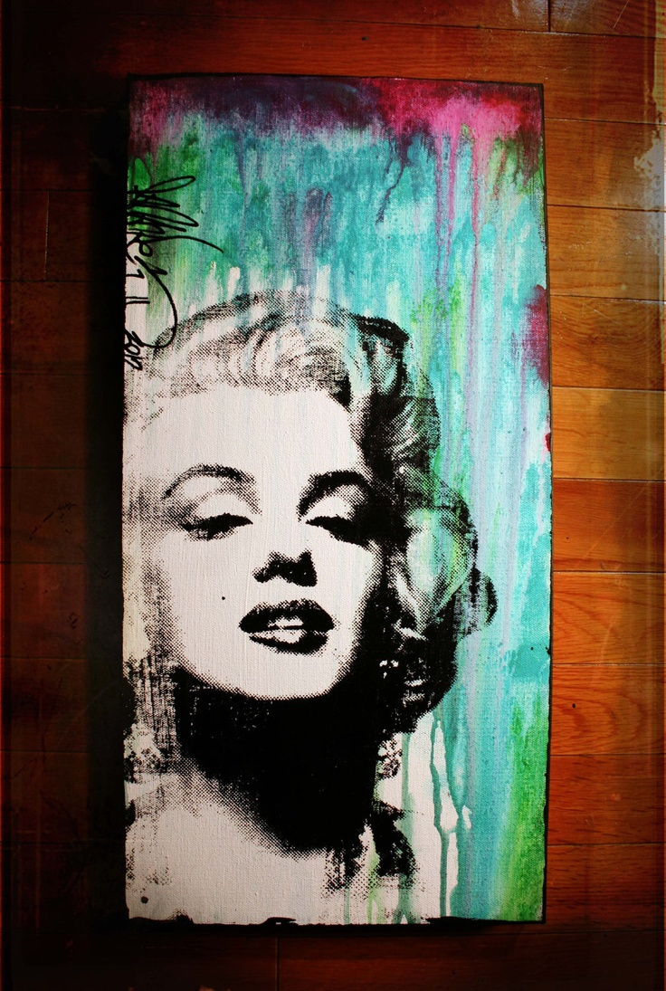 Marilyn Monroe silkscreen acrylic on canvas by therawart on Etsy ...