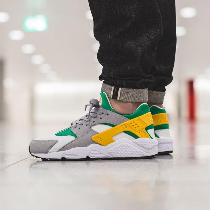 mens nike air huarache gold orange