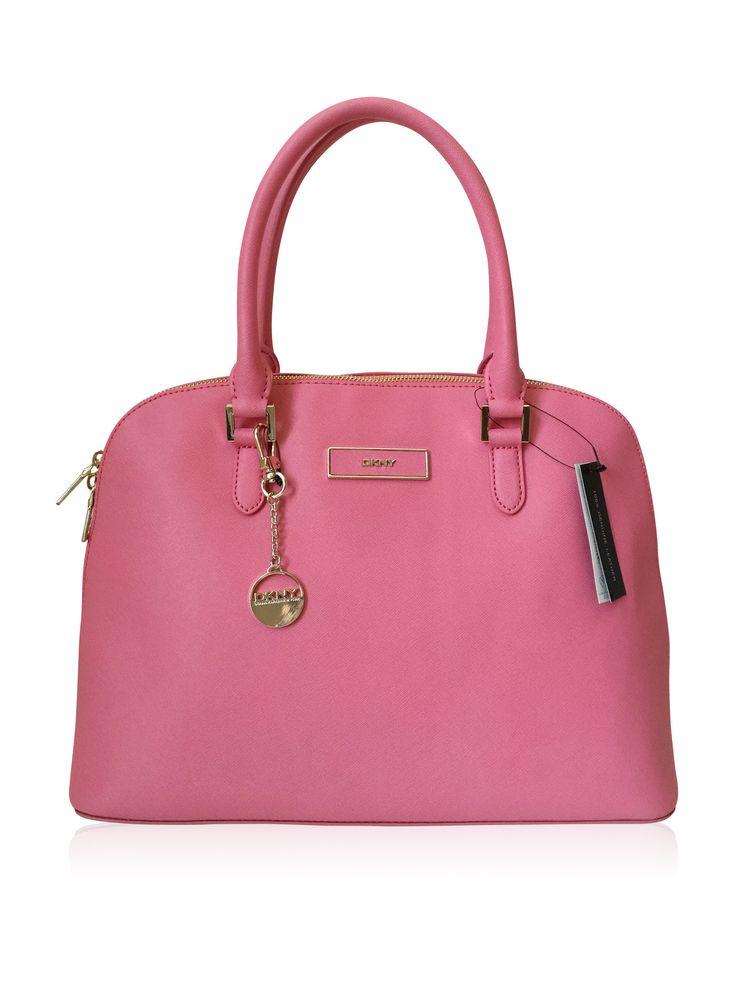 DKNY Saffiano Leather Pink Satchel Bag