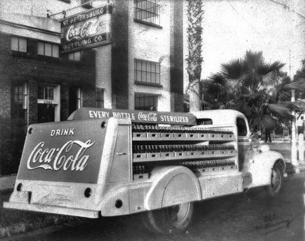 Coca Cola truck outside the Bottling Company - Saint Petersburg, Florida.