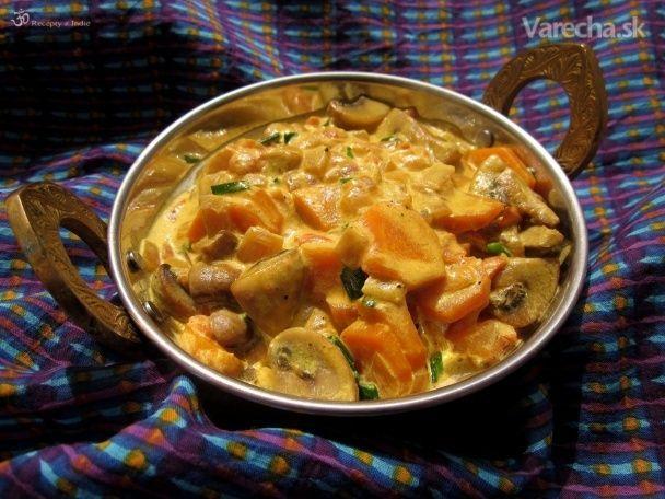 Šampiňóny s mrkvou na smotane (fotorecept)