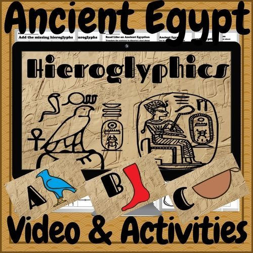 Teach your students to read and write hieroglyphics! The perfect addition to any ancient Egypt unit. This is a one of a kind resource that your students will never forget. Included- � A 4 minute HD QUALITY video presenting the hieroglyphic letters � A P