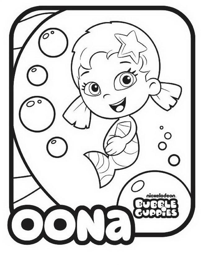 bubble guppies coloring pages oonagh - photo#6