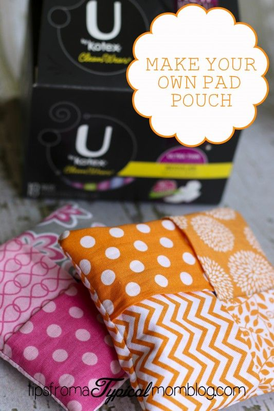 How to Make a Sanitary Pad Pouch for your daughters purse or backpack. So cute and easy for the girls to do themselves. Would be a fun Young Women's Project! #ad #PMedia #UbKKmart
