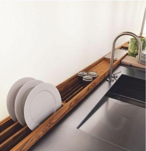 Modern dish racks.