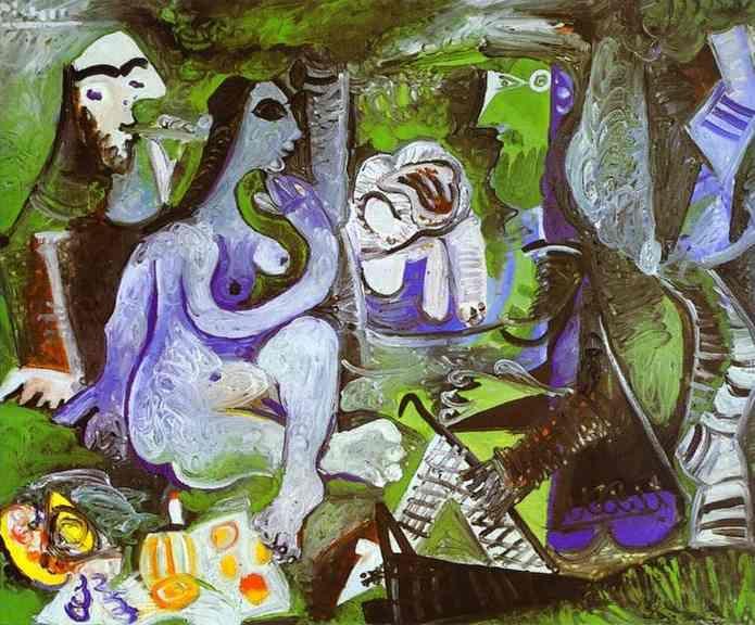 Pablo Picasso, Déjeuner sur l'herbe, 1961 (after manet / le déjeuner sur l'herbe)