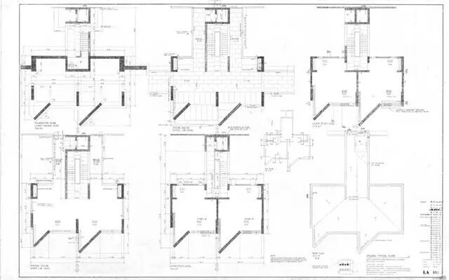Original drawings of Salt Lake Salk Institute, KAHN #arquitectura #plantas #plan #pianta