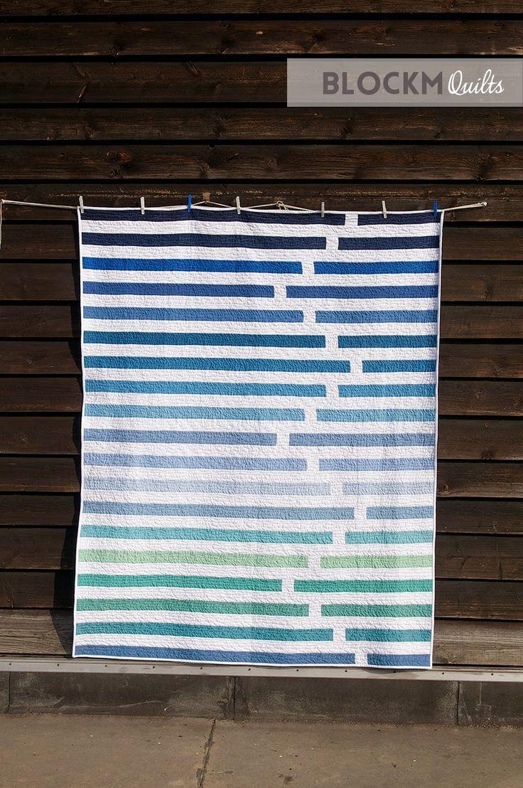 "Fun ""Regatta"" quilt by Daniela O'Connell of Block M Quilts."
