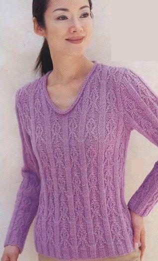 Вяжем пуловер спицами
