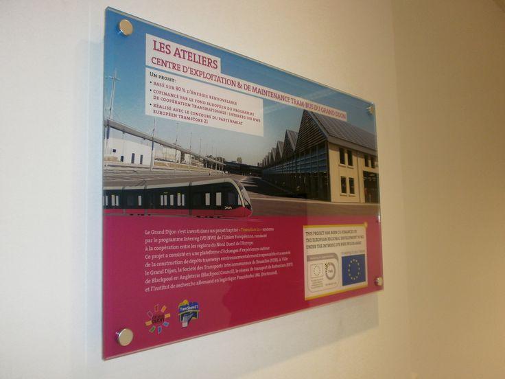 Signalétique intérieure en impression numérique - Atelier du Tram - Dijon - Sodifalux