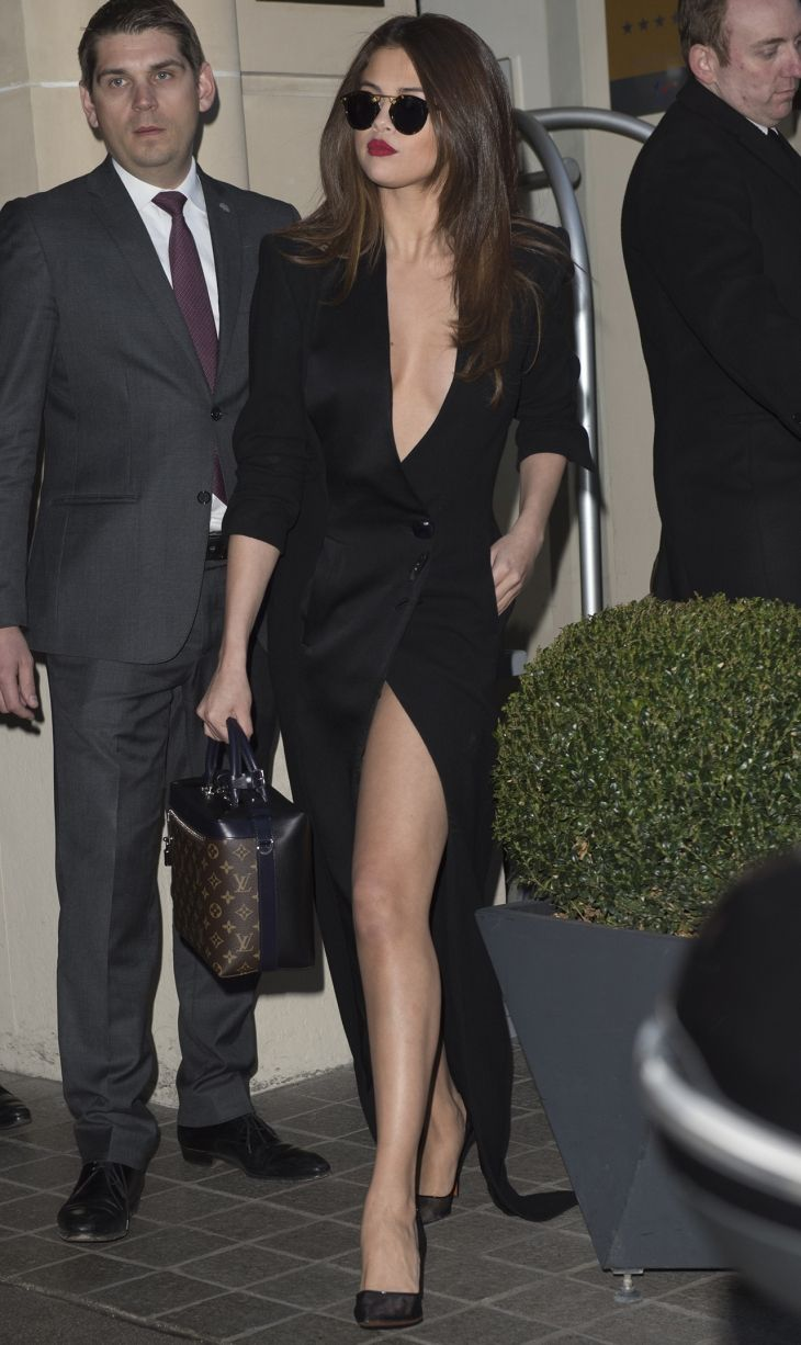 Selena Gomez Shows Some Serious Skin, Suffers Outfit