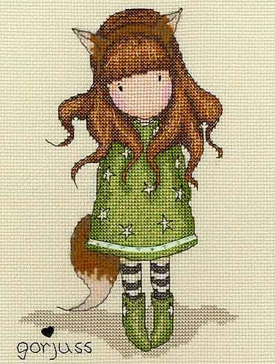 Gorjuss - The Fox Cross Stitch Kit by Bothy Threads