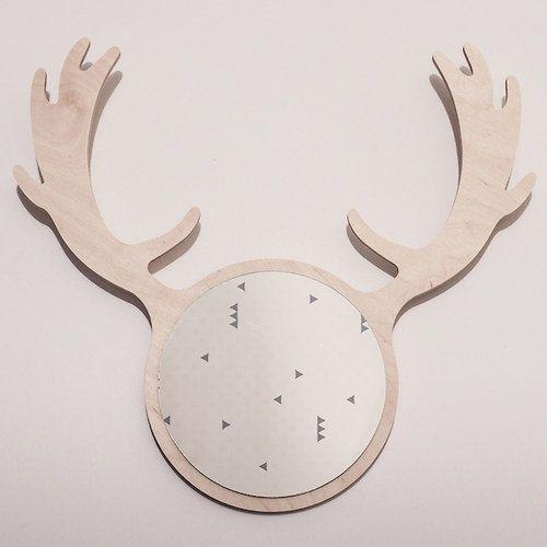 DEER FRIEND mirror by KATLA / fallow-deer