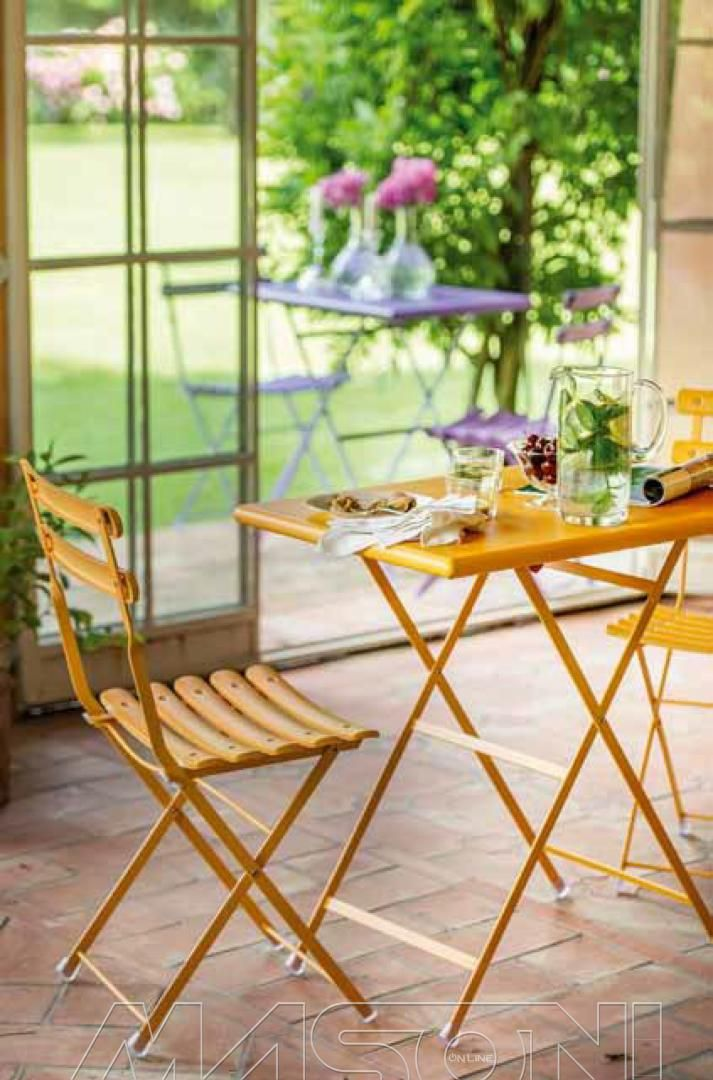 arc en ciel table chairs in orange theres a fantastic range of colours and easy to fold away