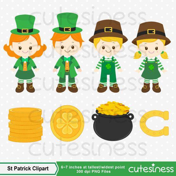 St Patrick's Clipart St Patricks Clipart St Patrick por Cutesiness