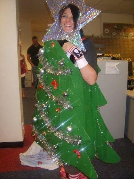 Easy Homemade Christmas Tree Costume