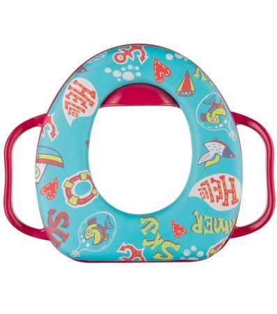 Happy baby Safary Cherry  — 624р. ------------------------------ Накладка на унитаз Happy baby Safary Aquamarine - удобный аксессуар для ребенка, помогающий приучить к самостоятельному пользованию туалетом. Яркий и красочный дизайн, мягкое и очень легкое сиденье. Надежные ручки и защитный бортик от брызг и капель. Поду...