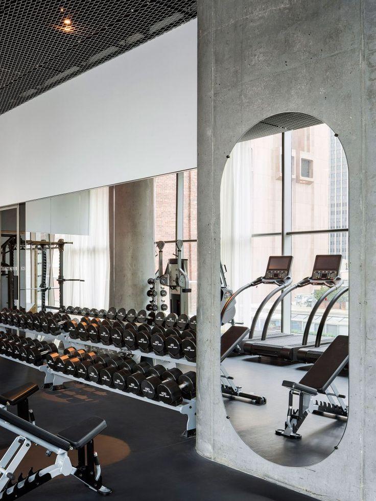 Vista De La Planta 10 Imagenes De Las Instalaciones Comunes De La Torre 56 Leonard De Herzog De Meuron Home Gym Design Gym Room At Home Gym Design Interior