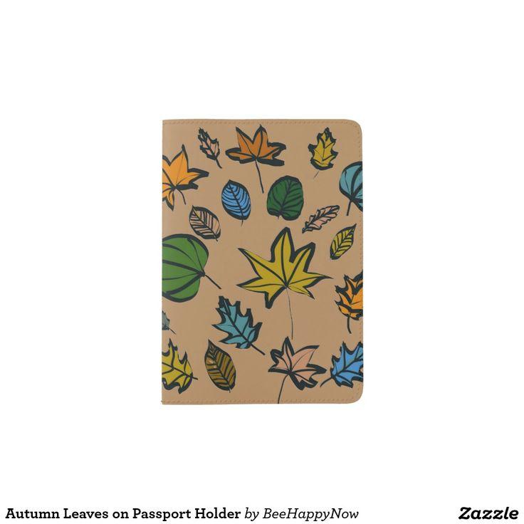 Autumn Leaves on Passport Holder