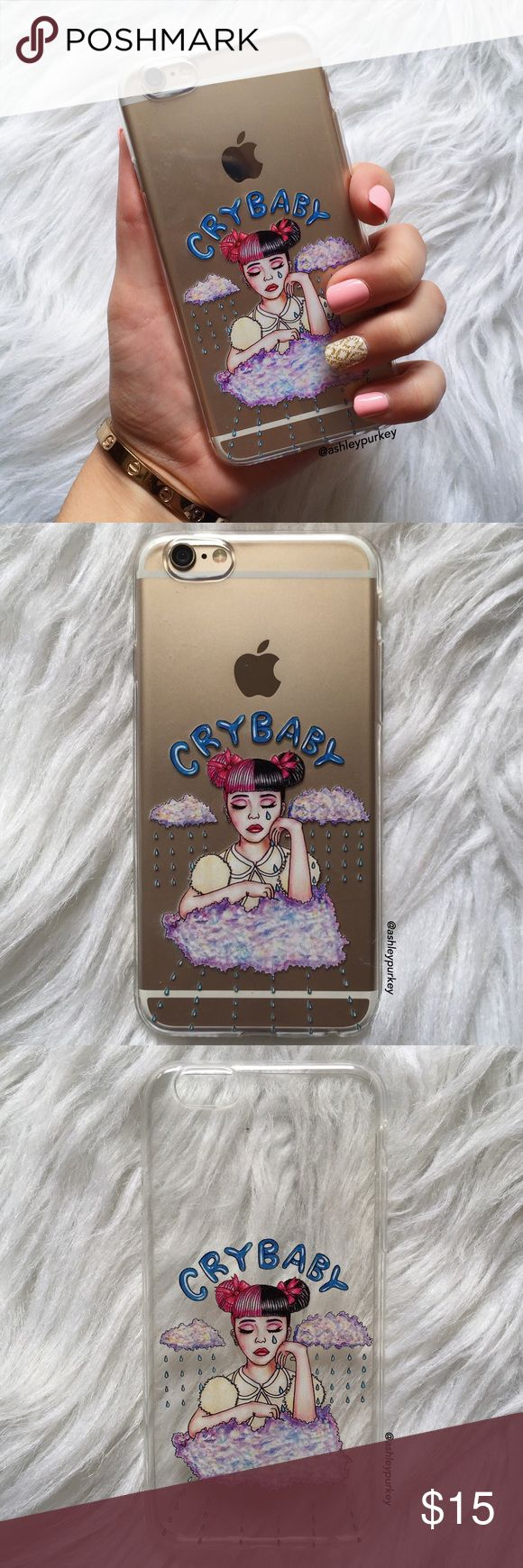 "Melanie Martinez crybaby iPhone 6/6s phone case •iPhone 6/6s (4.7"") •flexible silicone •phone not included •no trades *please make sure you purchase the correct size case. i am not responsible if you purchase the wrong size B-Long Boutique Accessories Phone Cases"