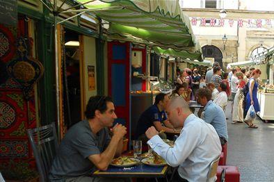 St Nicholas Market - Bristol Old City. Food market  PLUS jewellery, pottery, art etc